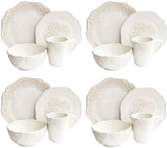 Bianca Medallion White 16-Piece Dinnerware Set - H368267
