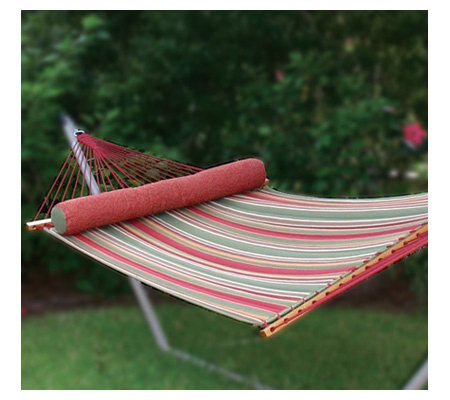 Pawleys Island Large Quilted Fabric Hammock - Trellis Stripe