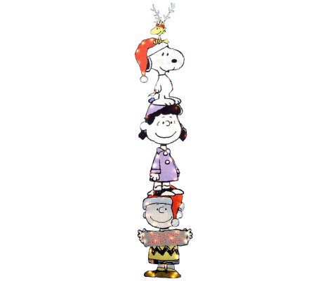 "60"" Lighted Peanuts Characters Stack Slim YardArt by Sterling"