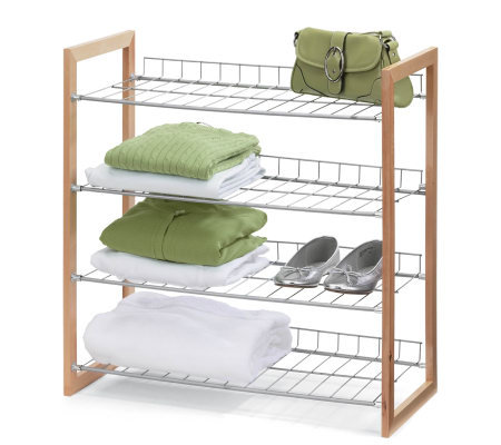 Honey-Can-Do 4-Tier Wood and Metal Storage Shelf