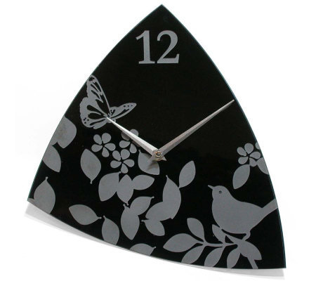 Age of Aviary Glass Wall Clock