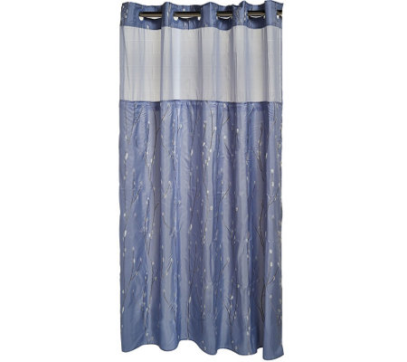 Shower Curtains cherry blossom shower curtains : Hookless Cherry Blossom Embroidery 3 in 1 Shower Curtain - Page 1 ...