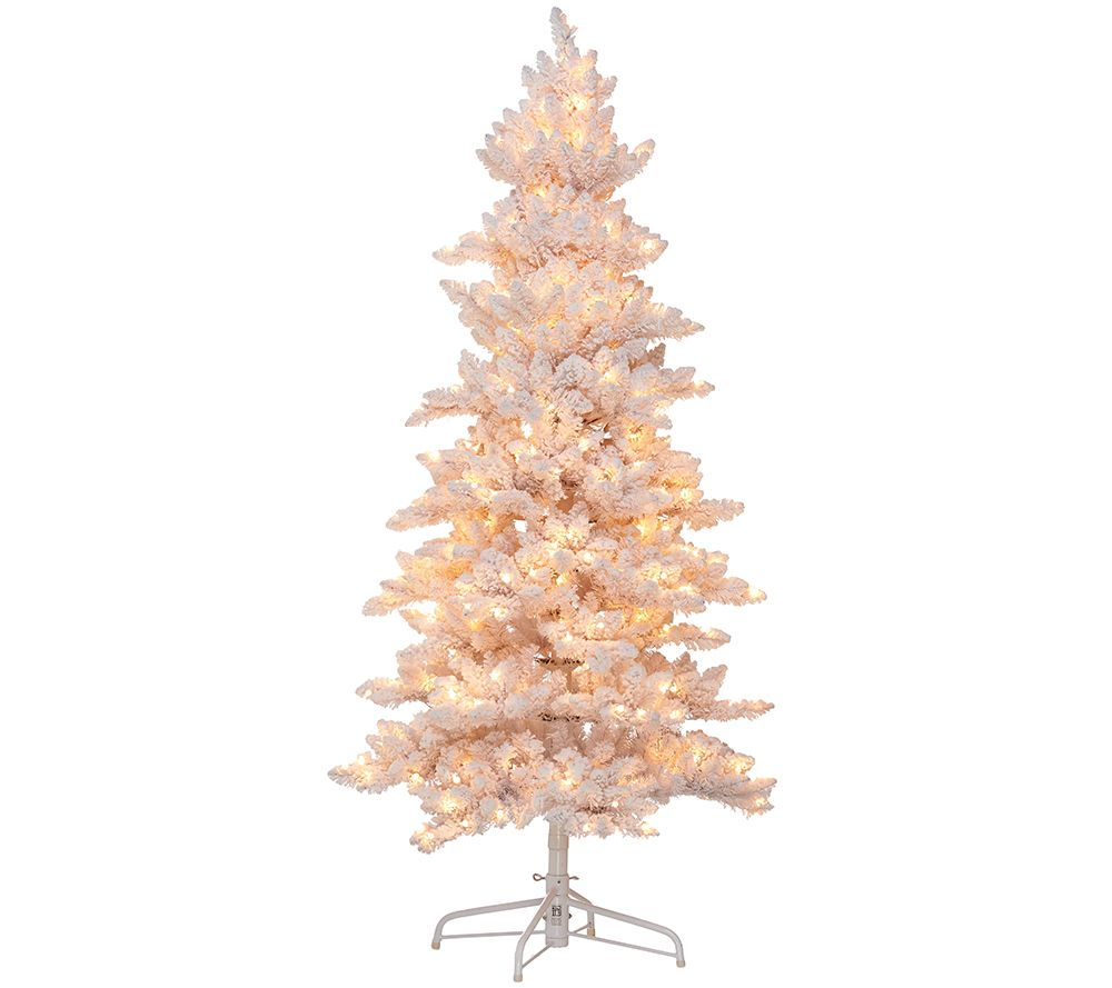 Bethlehem Lights 7.5' Flocked Bedford Spruce Christmas Tree - Page ...