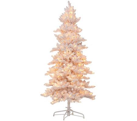 bethlehem lighting christmas trees. bethlehem lights 75u0027 flocked bedford spruce christmas tree lighting trees a