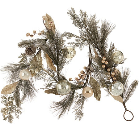 5' Vintage Pine Garland with Embellishments