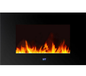 Warm House Venice Wall-Mounted LED Fireplace with Remote - H285668
