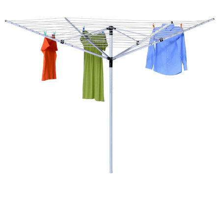 Honey-Can-Do Adjustable Height Outdoor UmbrellaDryer