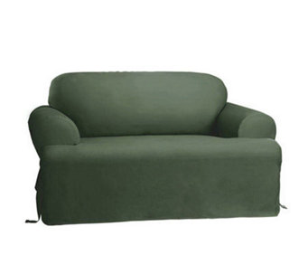 Sure Fit Cotton Duck T-Cushion Love Seat Slipcover - H138969