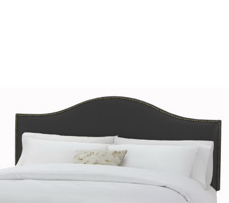 Skyline Furniture Nail Button Premier Fabric King Headboard
