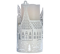 Lightscapes Die Cut Metal Sleeve with Flameless Candle - H206269