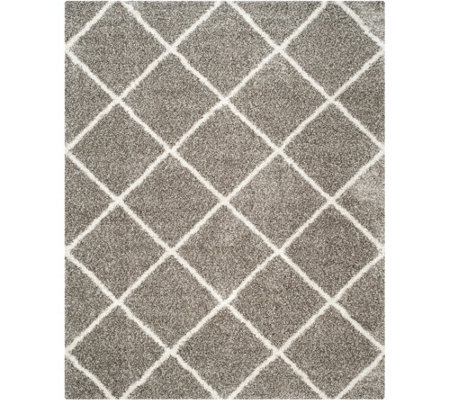 Safavieh 8'x10' Lattice Hudson Shag Area Rug