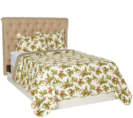 3pc Oversized Holiday Comforter Set with Shams by Valerie