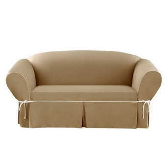 Sure Fit CVC Duck 1-Piece Loveseat Slipcover - H280969