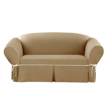 Sure Fit CVC Duck 1-Piece Loveseat Slipcover