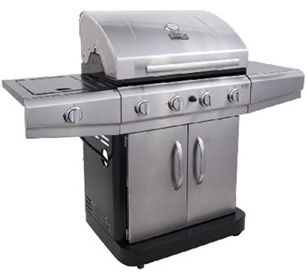 Char-Broil 48,000 BTU 4-Burner Gas Grill with Side Burner - H283869