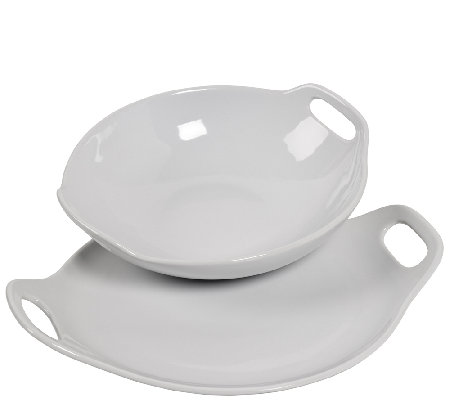 Tabletops Gallery 2-Piece Pasta Bowl Set w/ Handles