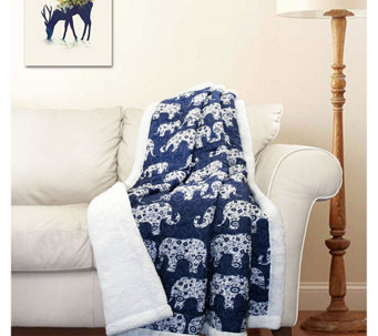 Elephant Parade Sherpa Throw by Lush Decor - H287569