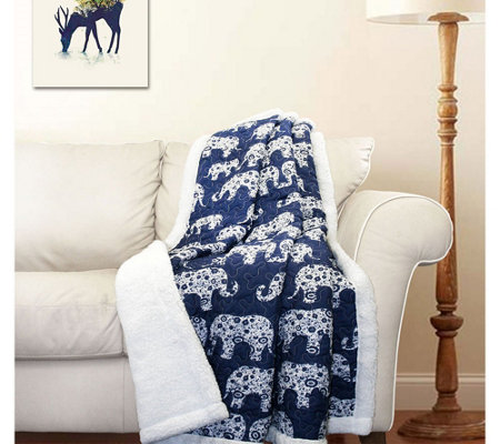 Elephant Parade Sherpa Throw by Lush Decor
