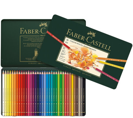 Faber-Castell Polychromos 36-Piece Colored Pencil Set with Ti