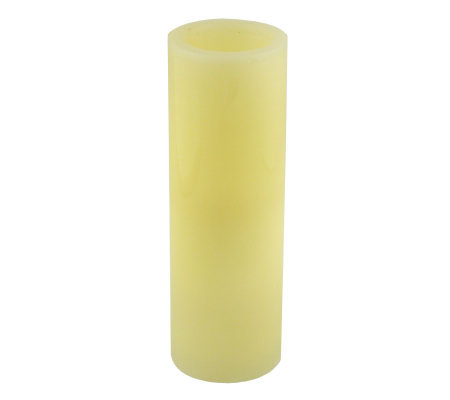 Pacific Accents 4x12 Ivory Flameless Candle Pillar