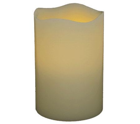 "Pacific Accents 3"" x 4"" Melted Top Flameless Candle"