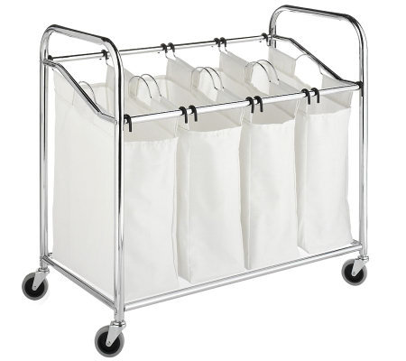 Whitmor Laundry Sorter 4 Section Chrom Page 1 Qvc Com