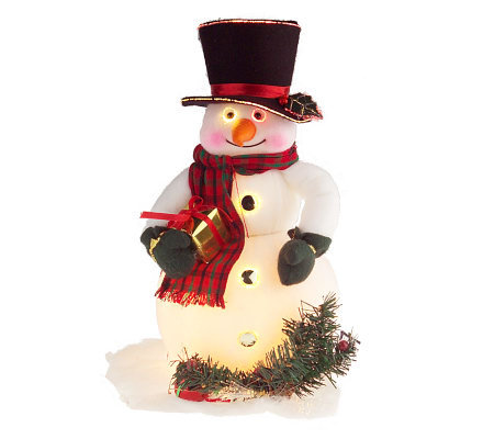 Whimsical Color Changing Fiber Optic 16&quot Snowman