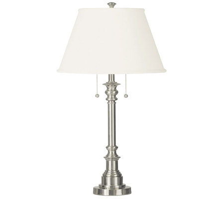 Kenroy Home Spyglass Table Lamp - Brushed SteelFinish