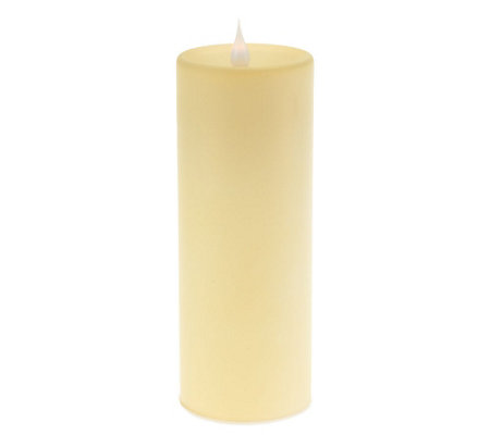 "Solare 8"" Frosted Glass Flameless Candle w/Multi Hue Technology"