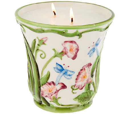 Temp-tations 23 oz. Ceramic Dragonfly Planter Candle