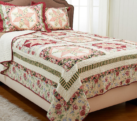 Jewel Star Twin 100% Cotton Quilt Set with Sham
