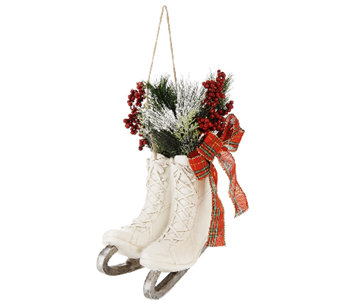 Plow & Hearth Winter Skates with Lights and Berries - H205970