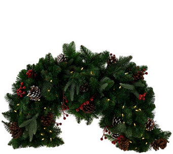 Bethlehem Lights 5' Mixed Greens and Berry Swag - H206470
