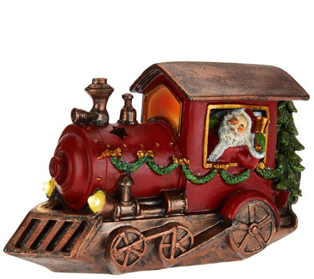Kringle Express Decorative Holiday Vehicle with Lit Accents