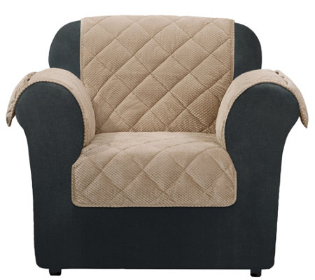 Sure Fit Chair Furniture Cover with Textured Pique Fabric