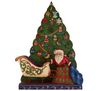 Jim Shore Heartwood Creek Santa Advent Calendar Figurine - H209670