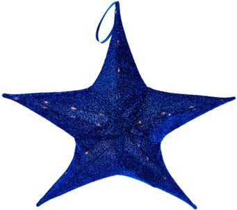 "Kringle Express 25.6"" Lit Outdoor/Indoor Collapsible Sparkle Star - H210170"