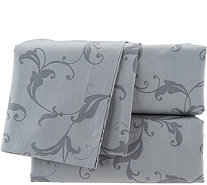Casa Zeta-Jones 400TC 100% Cotton Printed Scroll Sheet Set - H214670