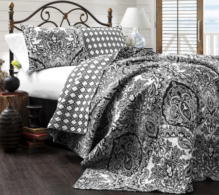 Aubree 3-Piece King Quilt Set by Lush Decor