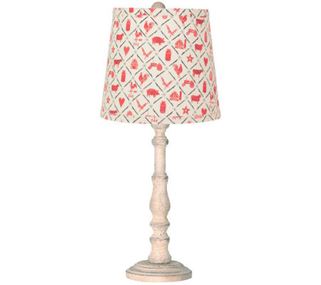 "21"" Townsend Lamp with Farm Animal Shade by Valerie"