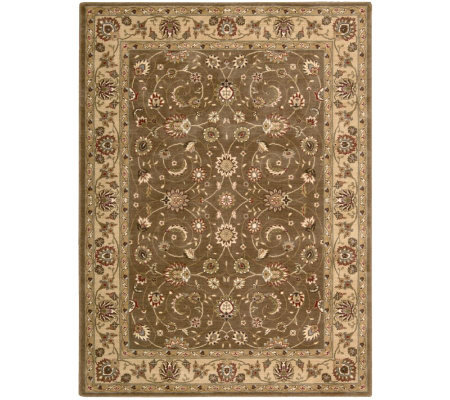 "Nourison Atlas 2'3"" x 8' Persian Machine-Made Framed Rug"