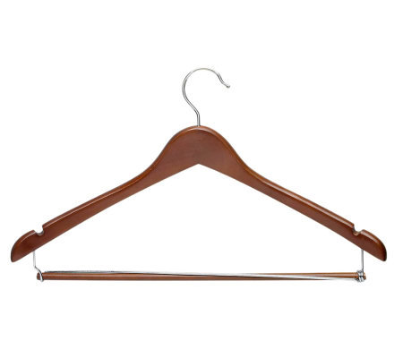Honey-Can-Do 6-Pack Contoured Cherry Finish Wood Suit Hangers