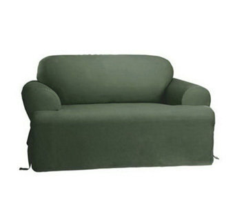 Sure Fit Cotton Duck T-Cushion Sofa Slipcover - H138971