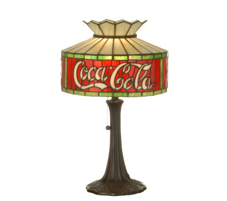 Tiffany-Style Coca-Cola Accent Lamp