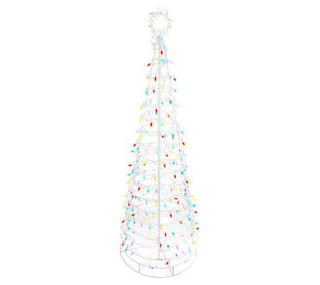 Santa's Best 6' Collapsible Outdoor Pre-Lit Christmas Tree - Page ...