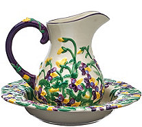 "Temp-tations Figural Floral 2 qt. Pitcher and 12"" Bowl Set - H205071"