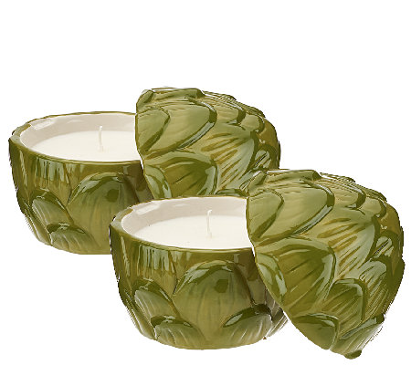 ED On Air Set of 2 Artichoke Candles by Ellen DeGeneres