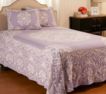 Medallion Jacquard_100% Cotton FL Bedspread with Shams