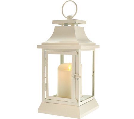 "Luminara 12"" Heritage Indoor Outdoor Lantern with Flameless Candle & Remote"