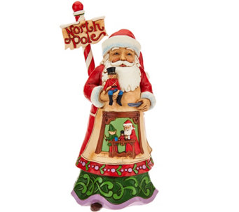 Jim Shore Heartwood Creek North Pole Santa Figurine - H209671